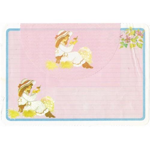 Conjunto de Papel de Carta ANTIGO Sunny & Candy CRS3