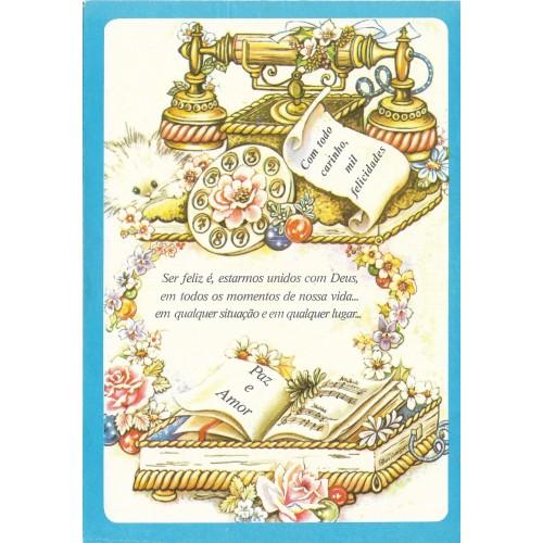 Papel de Carta Antigo Coleção BORDA AZUL 185