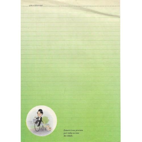 Papel de Carta Coleção TERNURA Chaplin 03