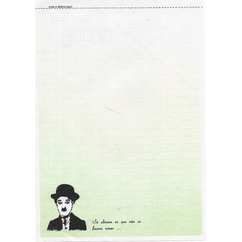 Papel de Carta Coleção TERNURA Chaplin 05