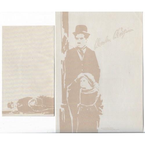 Ano 1987. Conjunto de Papel de Carta Chaplin Bubbles CMA 1