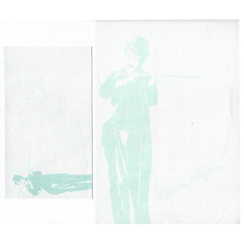 Ano 1987. Conjunto de Papel de Carta Chaplin Bubbles CAZ