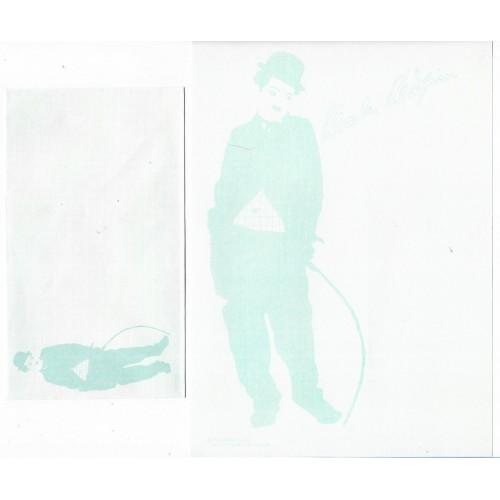 Ano 1987. Conjunto de Papel de Carta Chaplin Bubbles CAZ 1