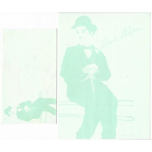 Ano 1987. Conjunto de Papel de Carta Chaplin Bubbles CVD