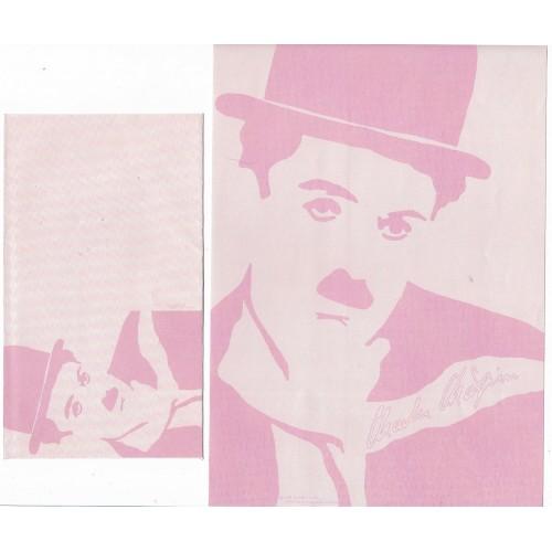 Ano 1987. Conjunto de Papel de Carta Chaplin Bubbles CRS