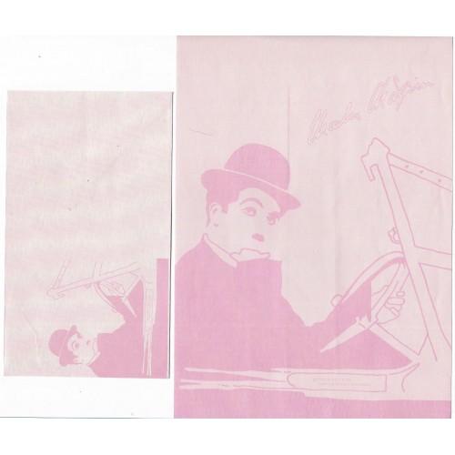 Ano 1987. Conjunto de Papel de Carta Chaplin Bubbles CRS 1