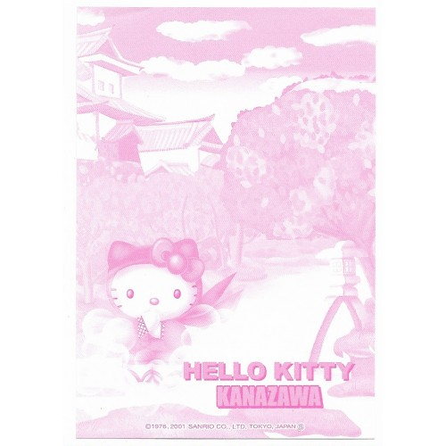 Ano 2001. Nota GOTOCHI Kitty Kanazawa Sanrio