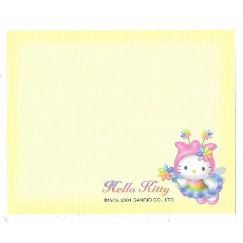 Ano 2001. Nota Hello Kitty Flowers CAM Vintage Sanrio