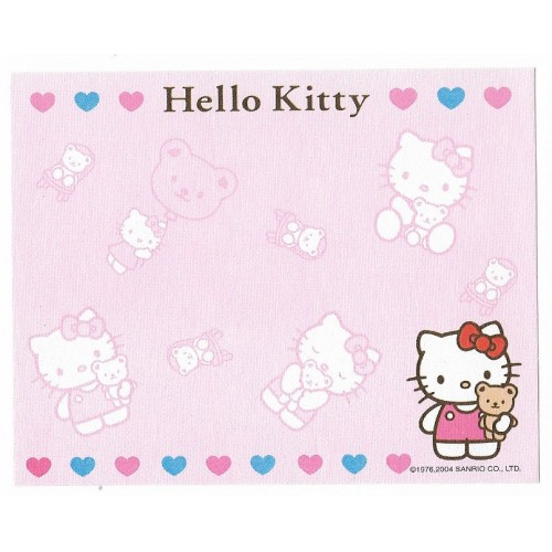 Ano 2004. Nota Hello Kitty & Bear Sanrio