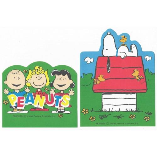 Kit 2 Notas Snoopy Hallmark Japan