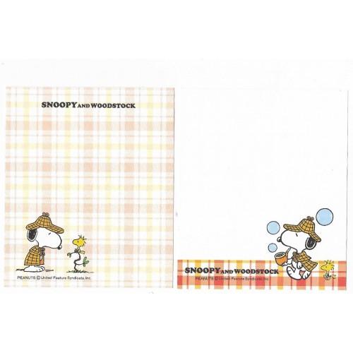 Kit 2 Notas Snoopy Letter Sanrio Peanuts Japan