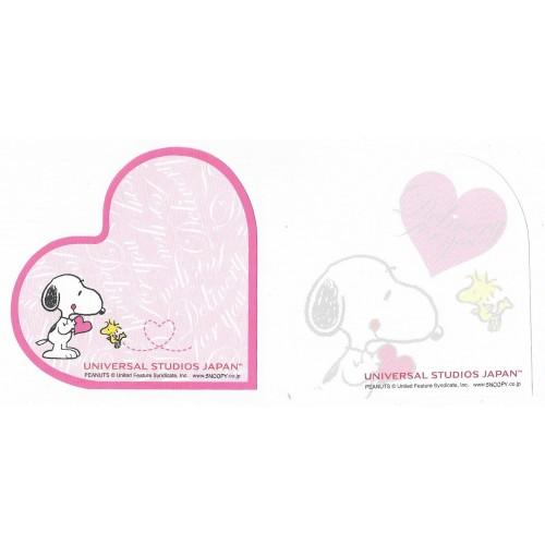 Kit 2 Notas Snoopy Heart Universal Studios Japan