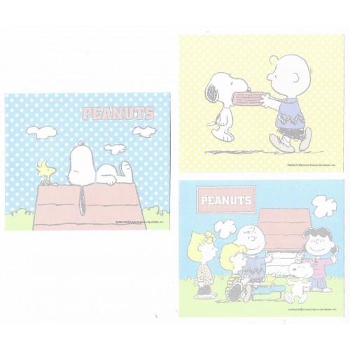 Kit 3 Notas Snoopy & Woodstock Peanuts Japan