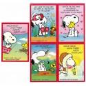 Kit 5 Mini-Cartões de Mensagem Valentines Antigo Importado Snoopy3