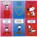 Kit 6 Mini-Cartões de Mensagem Valentines Antigo Importado Snoopy4