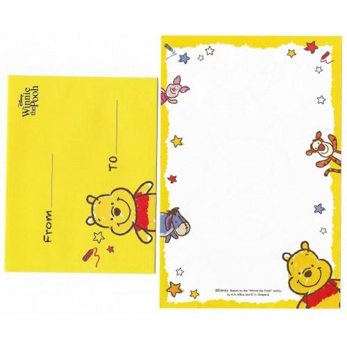Mini Conjunto de Papel de Carta Disney POOH Thank You Japan