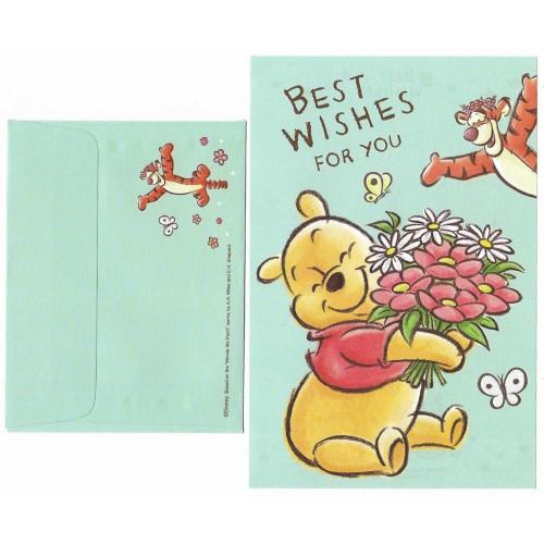 Mini Conjunto de Papel de Carta Disney POOH Best Wishes for You Japan