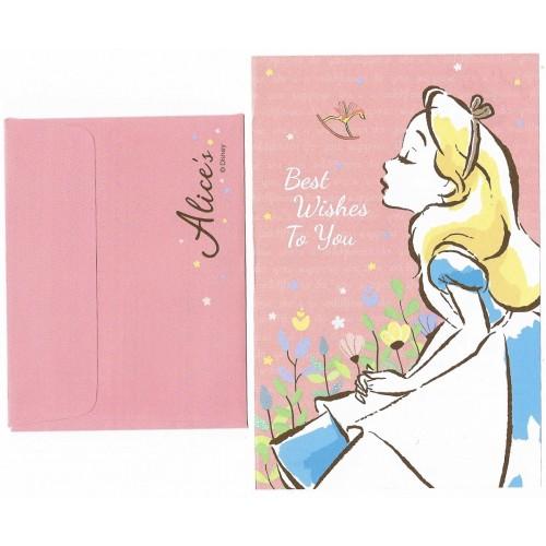 Mini Conjunto de Papel de Carta Disney ALICE Best Wishes for You Japan