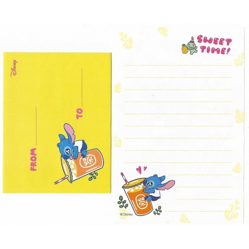 Mini Conjunto de Papel de Carta Disney Sweet Stitch Japan