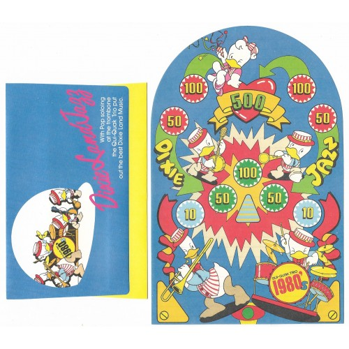 Ano 1979. Conjunto de Papel de Carta Qui-Quaks Dixie Land Jazz Sanrio