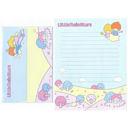 Ano 2003. Conjunto de Papel de Carta Little Twin Stars LBL Sanrio