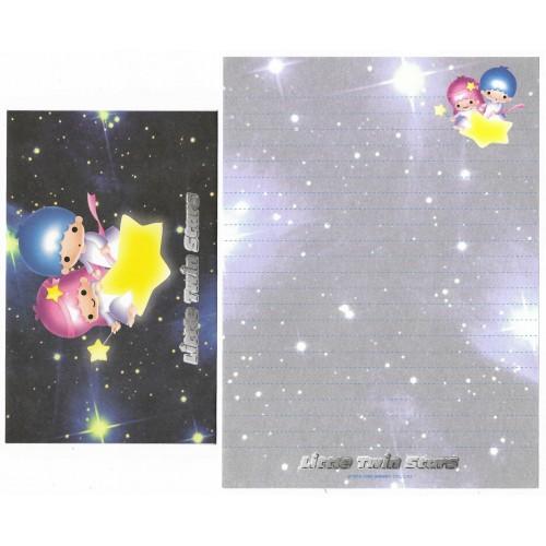 Ano 1999. Conjunto de Papel de Carta Little Twin Stars CGR Sanrio