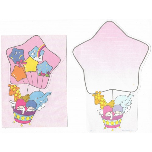 Conjunto de Papel de Carta Antigo Little Twin Stars Ballon