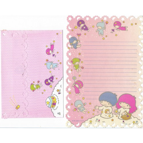 Conjunto de Papel de Carta Antigo Little Twin Stars Friends