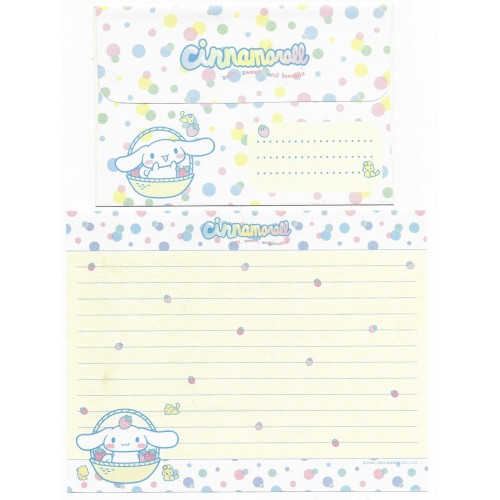 Ano 2004. Conjunto de Papel de Carta Cinnamoroll Strawberries Sanrio