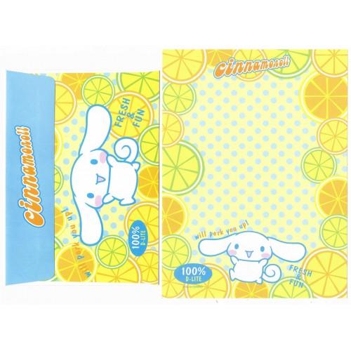 Ano 2004 Conjunto Papel de Carta Cinnamoroll 17 Edição Especial Sanrio