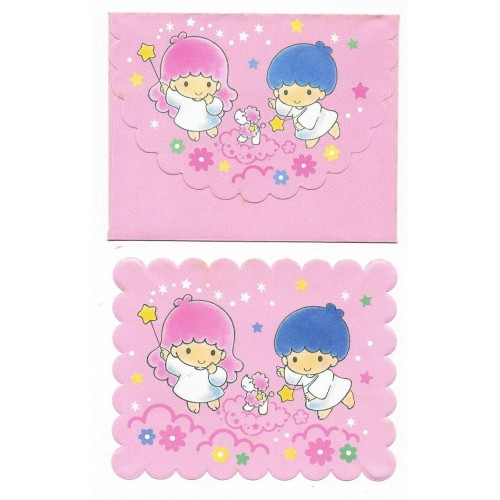 Ano 1994. Conjunto de Mini Papel de Carta Little Twin Stars CRS Sanrio