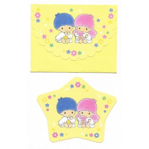 Ano 1994. Conjunto de Mini Papel de Carta Little Twin Stars CAM Sanrio