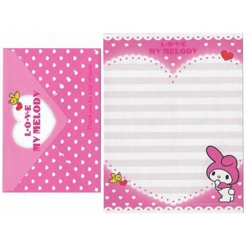 Ano 2010 Conjunto de Papel de Carta My Melody Love CRS Sanrio