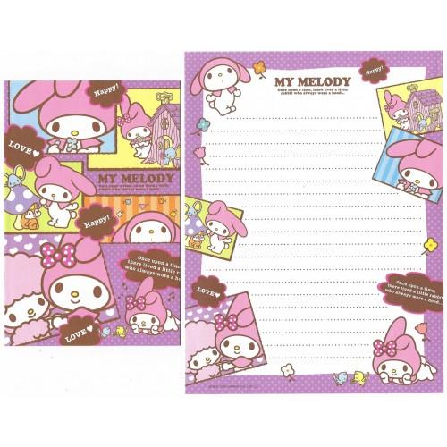 Ano 2010. Conjunto de Papel de Carta My Melody Happy4 Sanrio