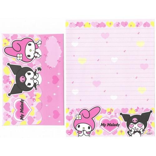 Ano 2006. Conjunto de Papel de Carta My Melody & Kuromi 3 Sanrio