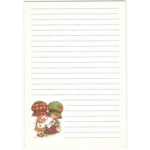 Papel de Carta Antigo AVULSO Importado Bonnie Bonnets Friendship