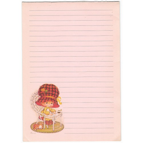 Papel de Carta Antigo AVULSO Importado Bonnie Bonnets Tartan
