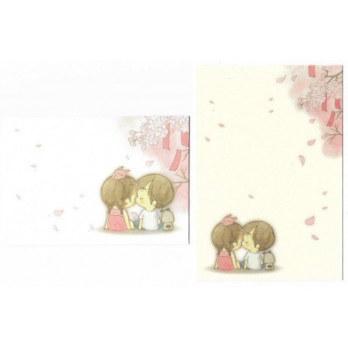 Conjunto de MINI-Papel de Carta Importado AMY & TIM 02