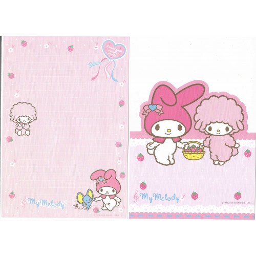 Ano 2006. Kit 4 Papéis de Carta My Melody Sweet Sanrio