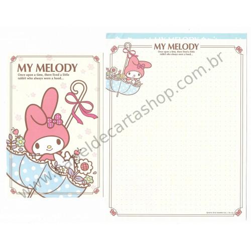 Ano 2012. Conjunto de Papel de Carta My Melody My Umbrella Sanrio