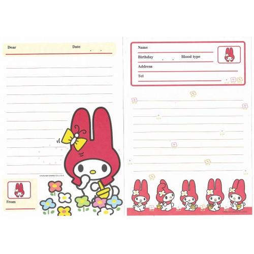 Ano 1997. Kit 2 Papéis de Carta M My Melody Antigo (Vintage) Sanrio