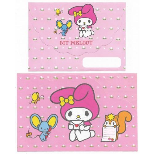 Ano 2000. Conjunto de Papel de Carta My Melody Pink Antigo (Vintage) Sanrio
