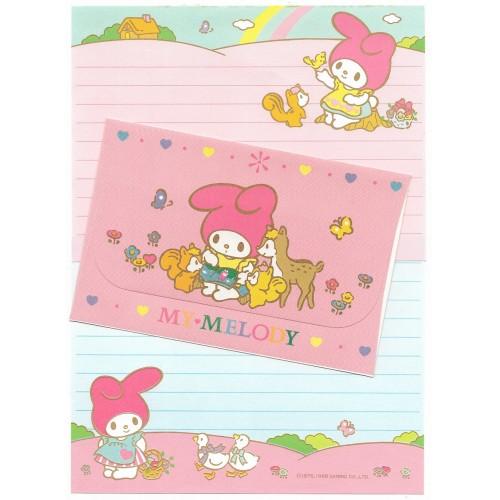 Ano 1988. Conjunto de Papel de Carta My Melody Vintage Sanrio