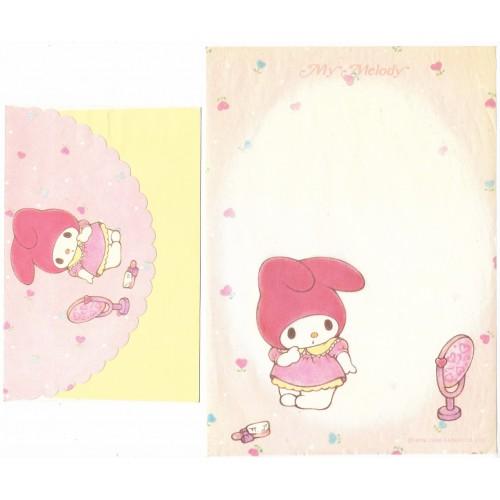 Ano 1985. Conjunto de Papel de Carta My Melody Vintage Sanrio