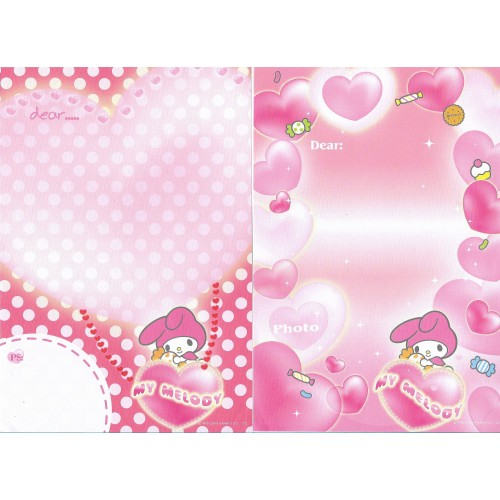 Ano 2005. Lote 16 Papeis de Carta My Melody Sanrio