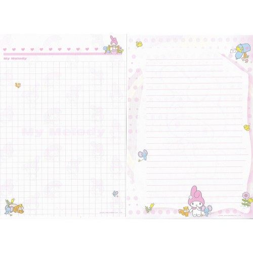 Ano 2004. Lote 16 Papeis de Carta My Melody Sanrio