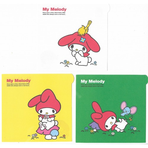 Ano 2006. Kit 3 NOTAS My Melody Red Hood Sanrio