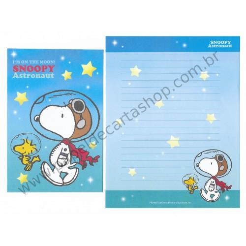 Conjunto de Papéis de Carta Snoopy Astronaut CAZ - Peanuts