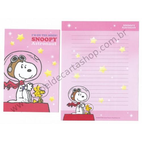 Conjunto de Papéis de Carta Snoopy Astronaut CRS - Peanuts