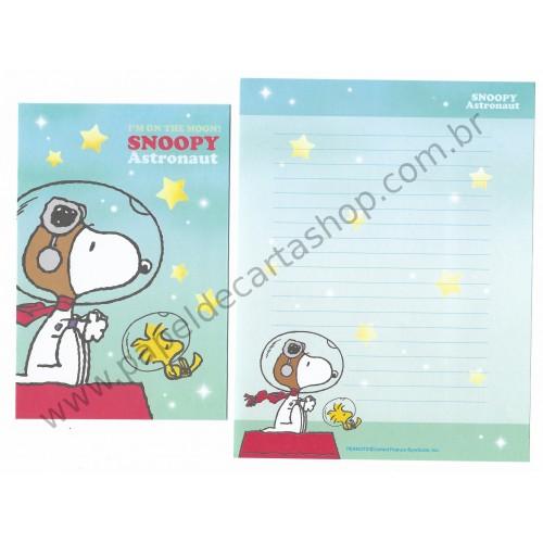 Conjunto de Papéis de Carta Snoopy Astronaut CVD - Peanuts